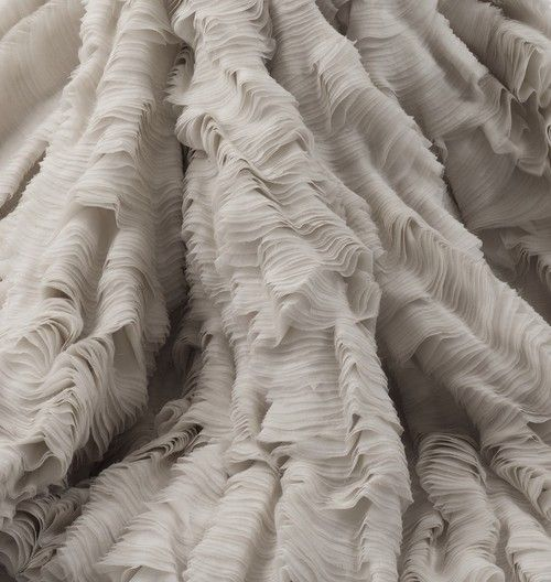 Detail of the 'Oyster Dress' presented in Alexander McQueens Spring/Summer 2003 Collection