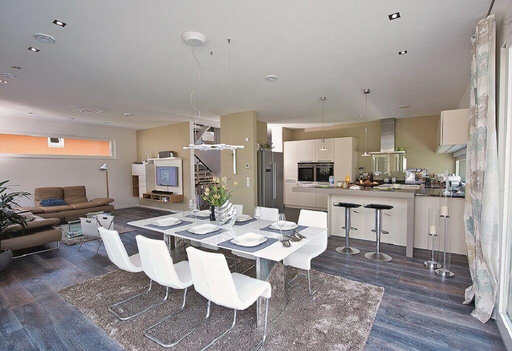 Esszimmer Ideen mit offener Küche Inneneinrichtung Haus