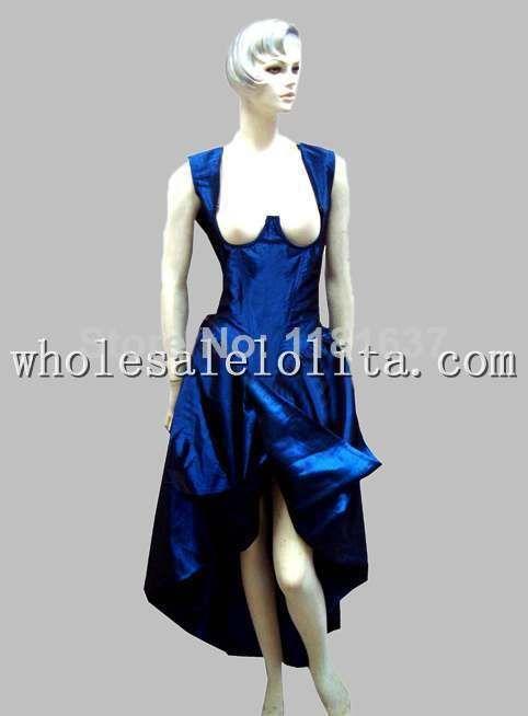 Click to Buy << Gothic Blue Thai Silk Historical Euro Court
