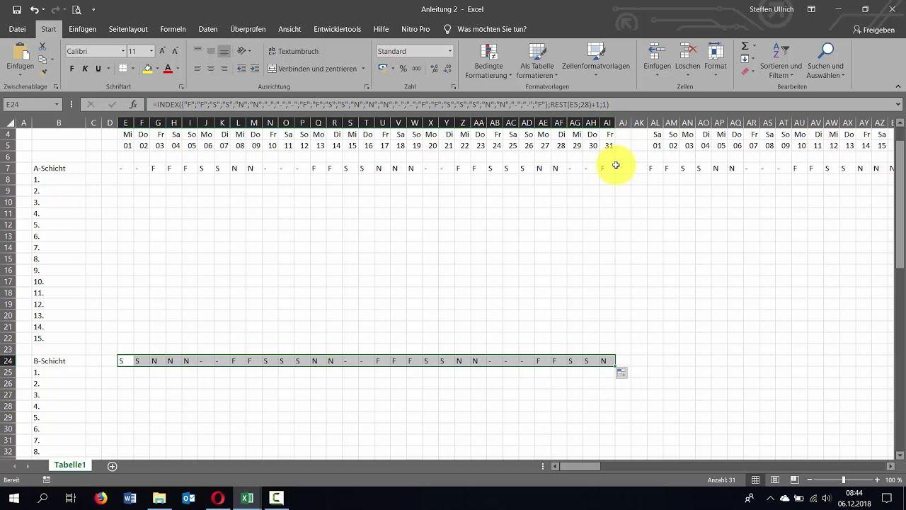 Excel Schichtplan Erstellen Teil 2 Schichtberechnung V2 Schichtplan Erstellen Planer