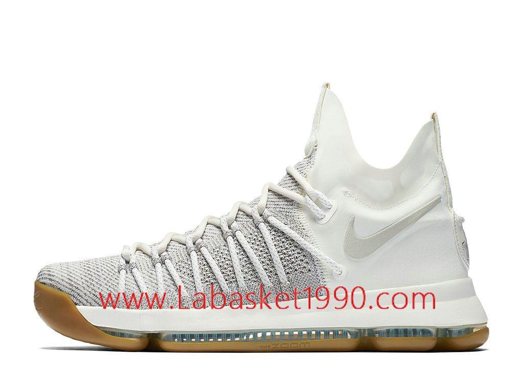 78146610b9e Nike KD 9 Elite Lvory 878637 001 Chaussures Nike Prix Pas Cher Pour Homme  Blanc Brun