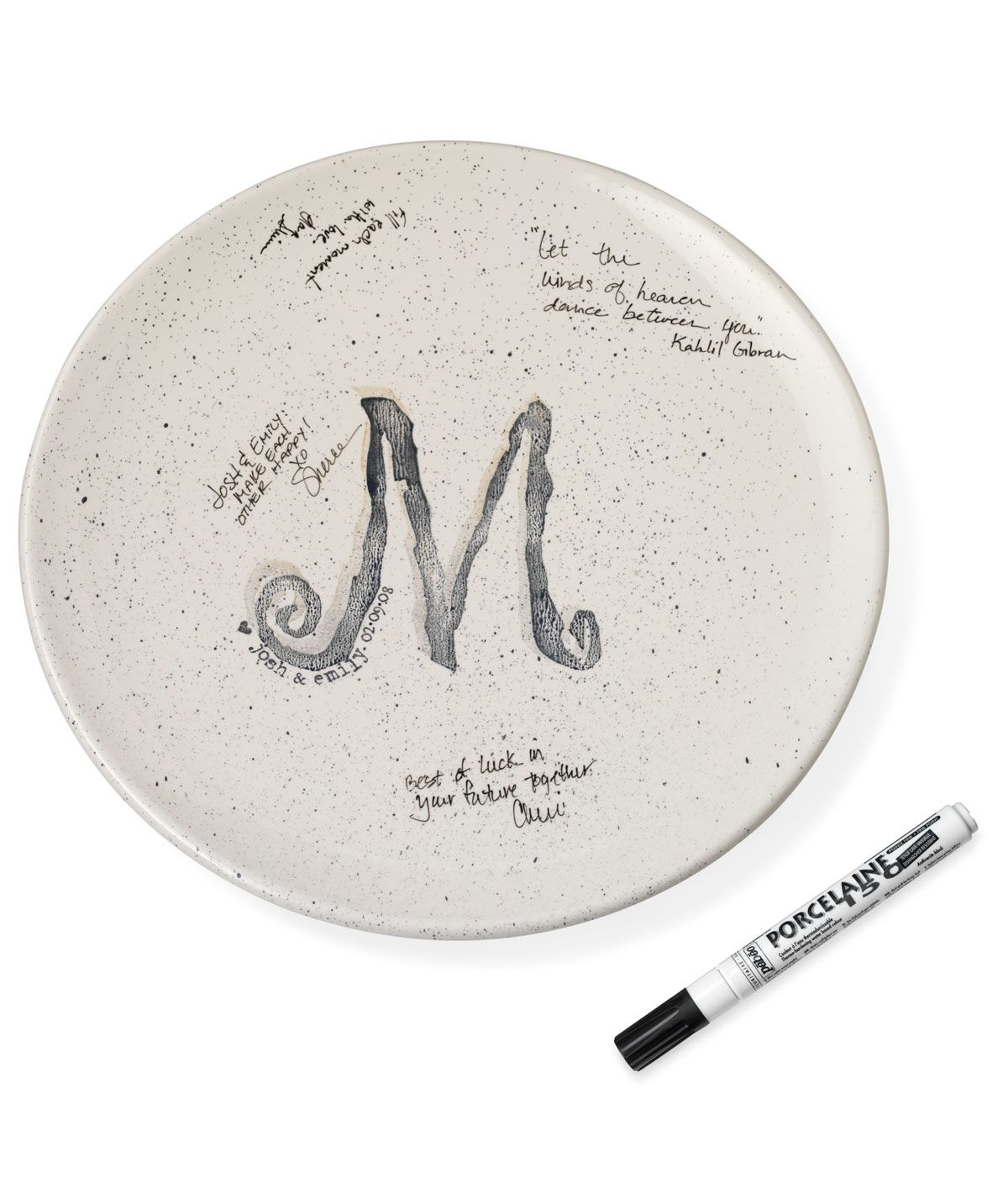 Personalized Wedding Guest Book Platter Personalised wedding guest