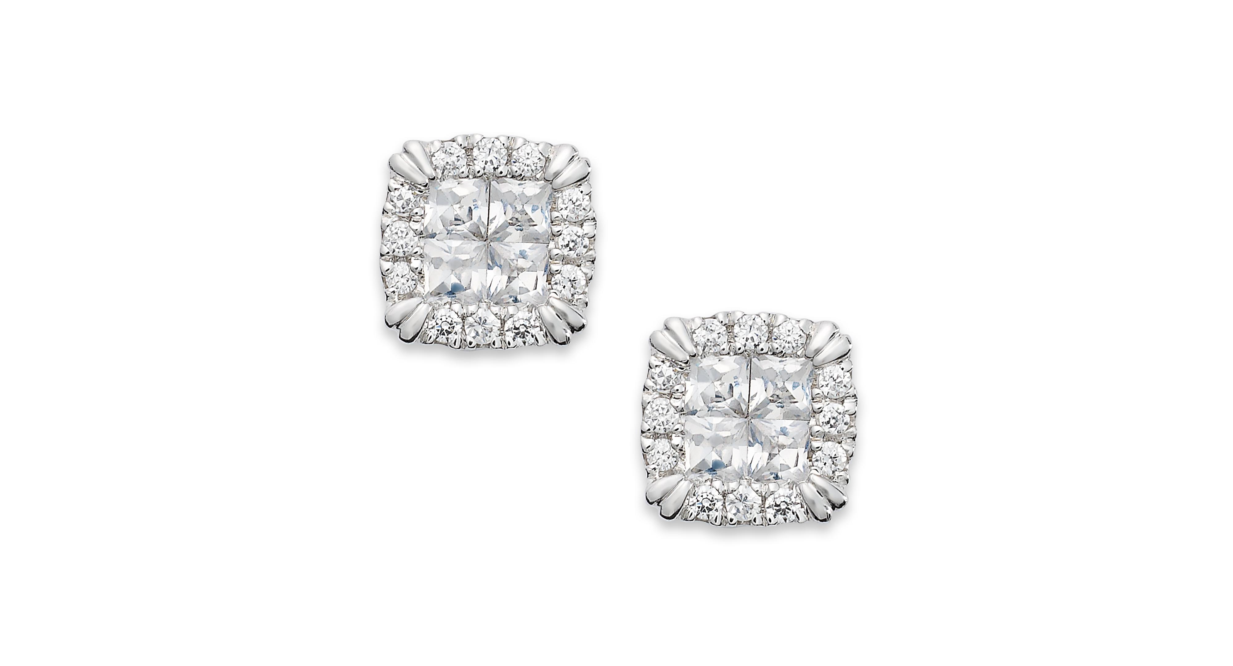 Princess Treasures Diamond Stud Earrings In 14k White Gold 1 1 4 Ct T W Diamond Studs