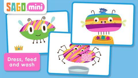 Sago Mini bug builder app for kids Kids app, Preschool