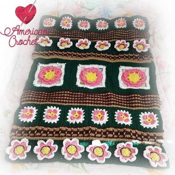 Fields Of Flowers Afghan Free Crochet Pattern American Crochet