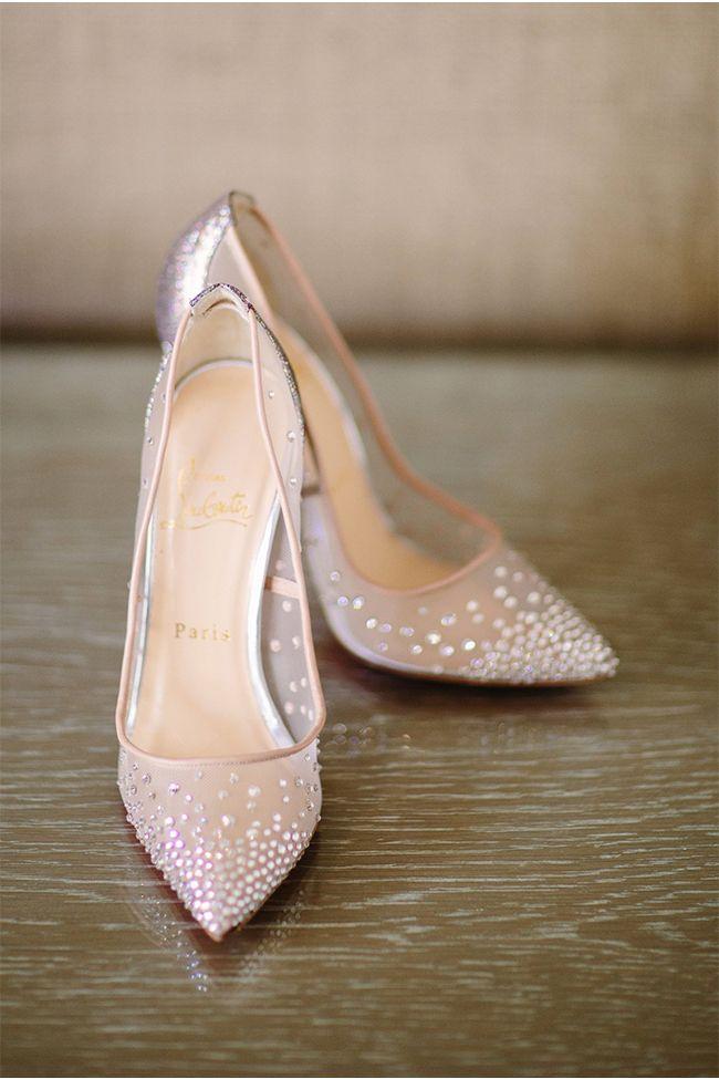 Louboutin Sparkle Heelssparkle Wedding Shoesrose