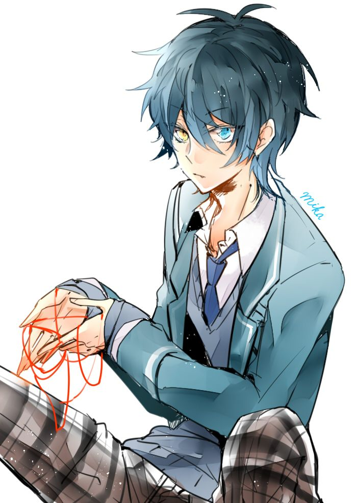 Anime Heterochromia Odd Eyes Yellow Blue Kagehira Mika Ensemble Stars Anime People Anime Anime Characters