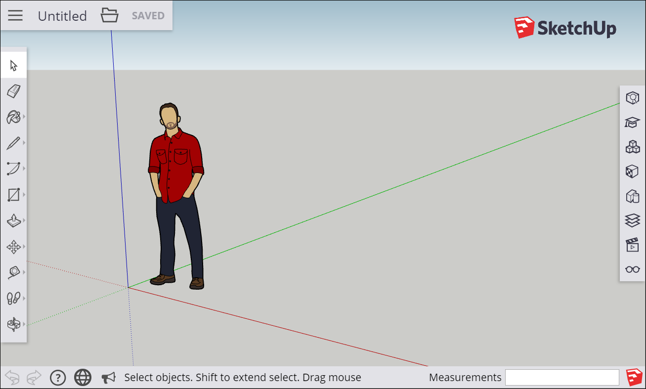 The Sketchup For Web Interface Offers Drawing Tools And Features