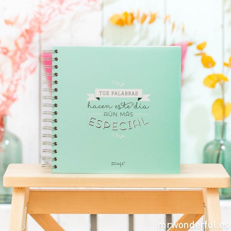 Libro de firmas para bodas de Mr. Wonderful