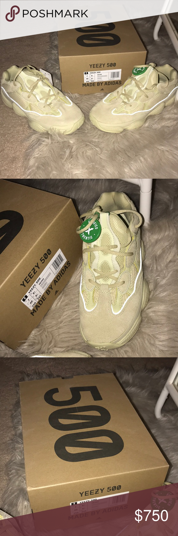 8e561075afa Yeezy Boost 500 Super Moon Yellow Brand Spanking New Yeezy Boost 500 s  VERIFIED AUTHENTIC TAG ON IT WITH NEW BOX AND TAGS Yeezy Shoes Sneakers