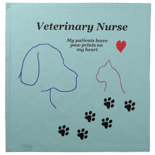 Veterinary Nurse Paw Prints On My Heart Napkin Zazzle Com In 2020 Veterinary Medicine Quotes Veterinary Veterinary Humor