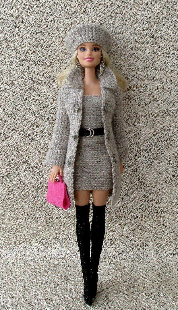 Вязаная одежда для кукол/Описания, схемы/Продажа #crochettoysanddolls