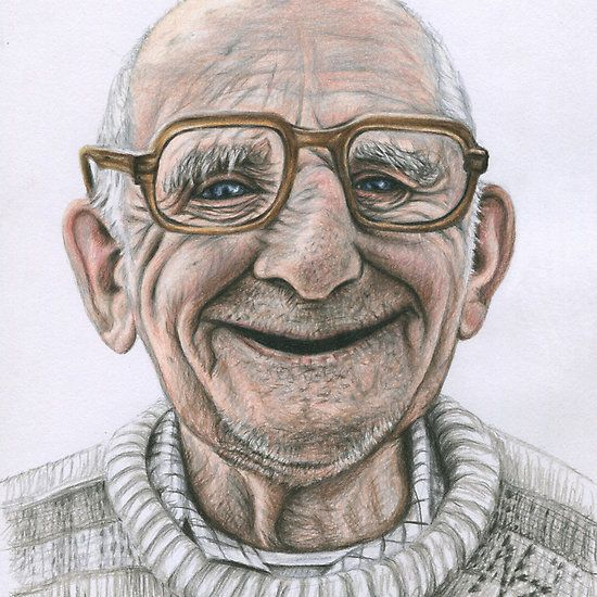 Happy Polish Man, coloured pencil drawing by Nicole Zeug, www.arts-and-dogs.de