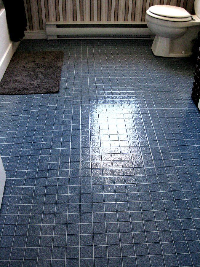 This Is How I Totally Transformed My Bathroom Floor Without Removing