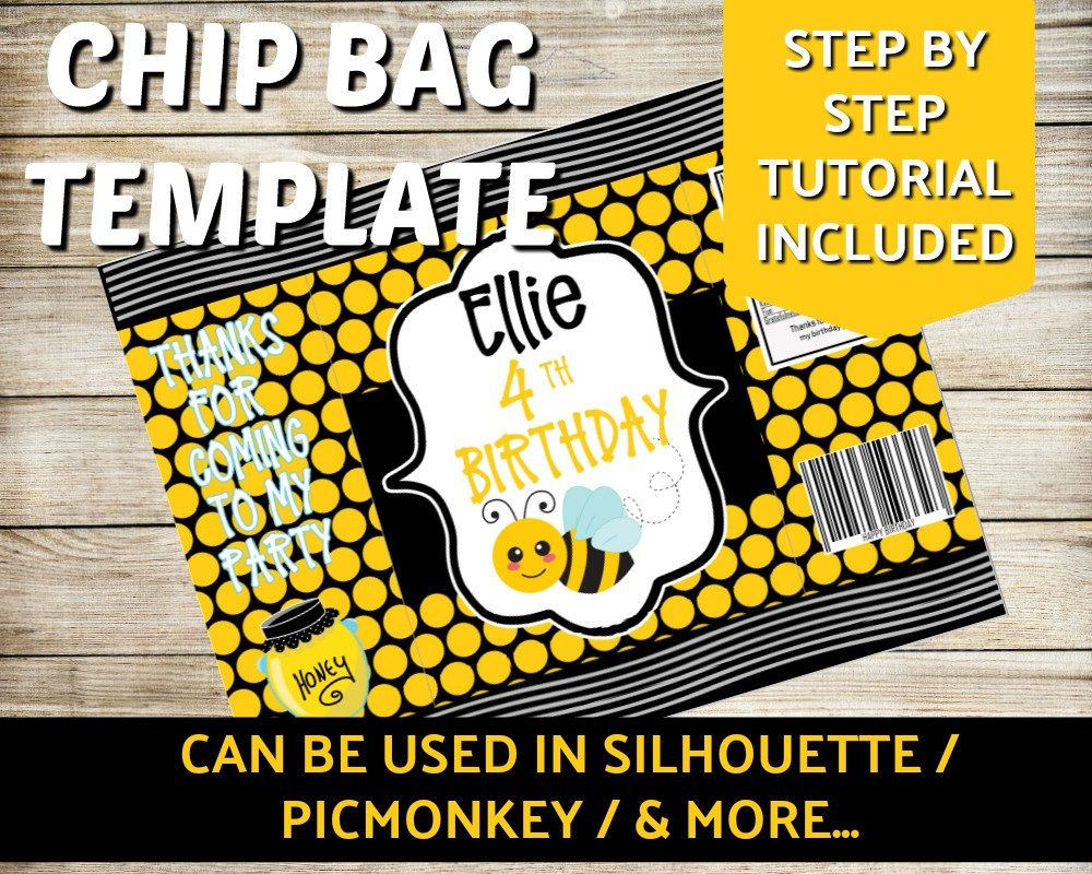 Blank Chip Bag Template Silhouette Chip Bag Template Picmonkey