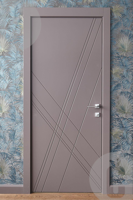 Двери МДФ с фрезеровкой. Фото из дизайнерской коллекции ...