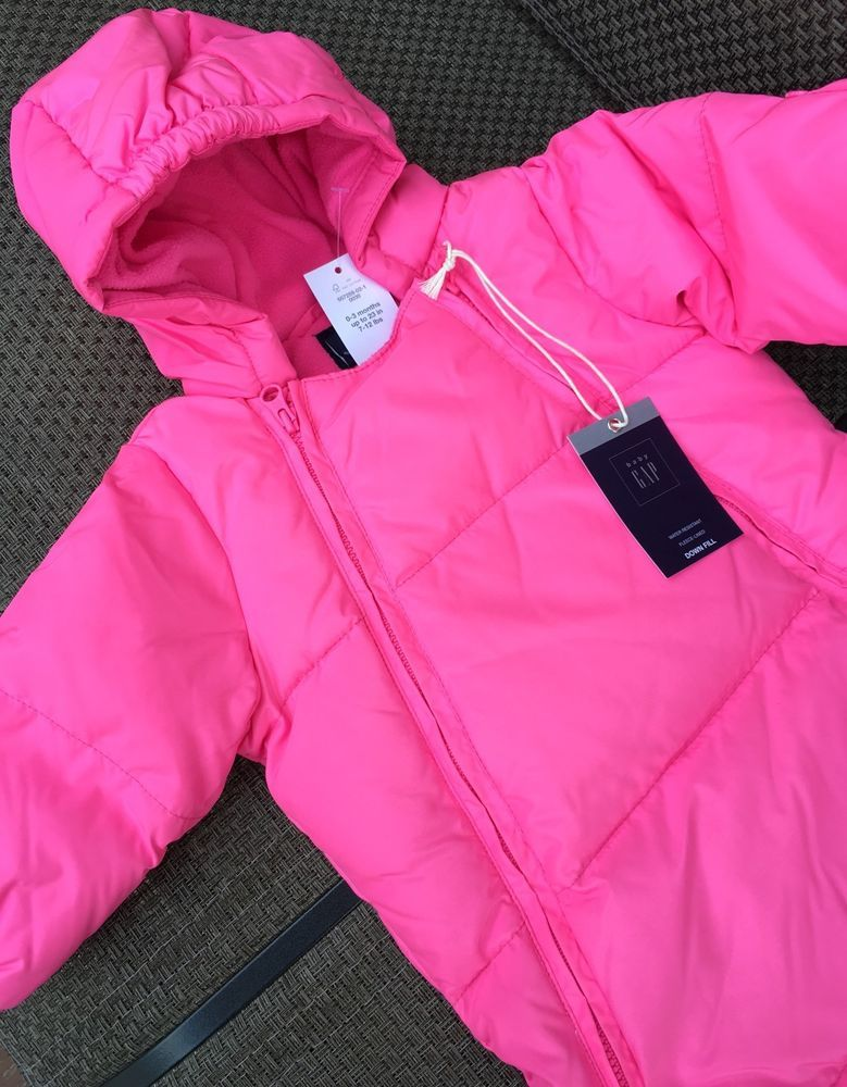 aecdffc56b32 NEW Baby GAP Girls Warmest Convertible Bundler Snowsuit 0-3 Months ...