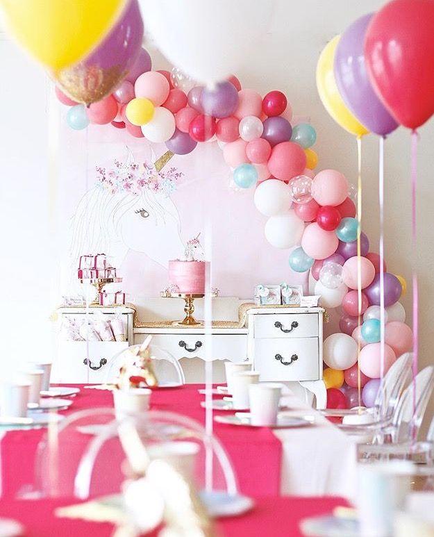 Party decoration ideas birthday decorations balloon decorations party ideas party themes balloon columns balloon backdrop unicorn birthday parties