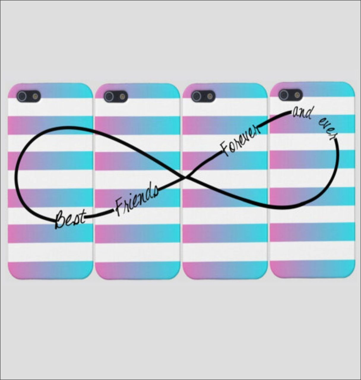 new product 63d51 d07e8 Best Friends Infinity Rainbow Fade Phone Cases (Four Case Set ...