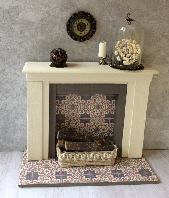 Miniature Fireplace, Dollhouse Fireplace, Dollhouse Furniture, Miniature Furniture, Dollhouse, Diorama, Room Box #dollhousefurniture Miniature Fireplace, Dollhouse Fireplace, Dollhouse Furniture, Miniature Furniture, Dollhouse, Diorama, Room Box...handmade from 2 Stinkin' Cute Miniatures #dollhousefurniture