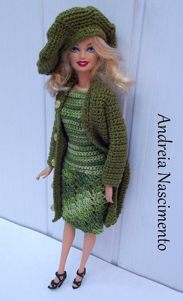 Diy Casaco Barbie De Croche Passo A Passo Roupas De Croche