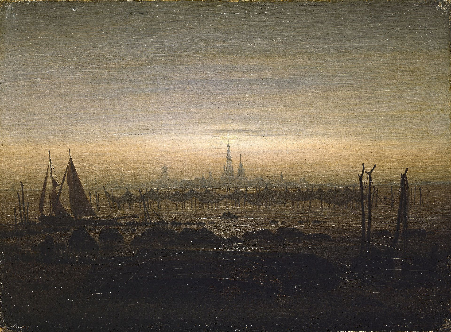 Landschaftsmalerei romantik friedrich  Caspar David Friedrich 064 - Caspar David Friedrich – Wikipedia ...