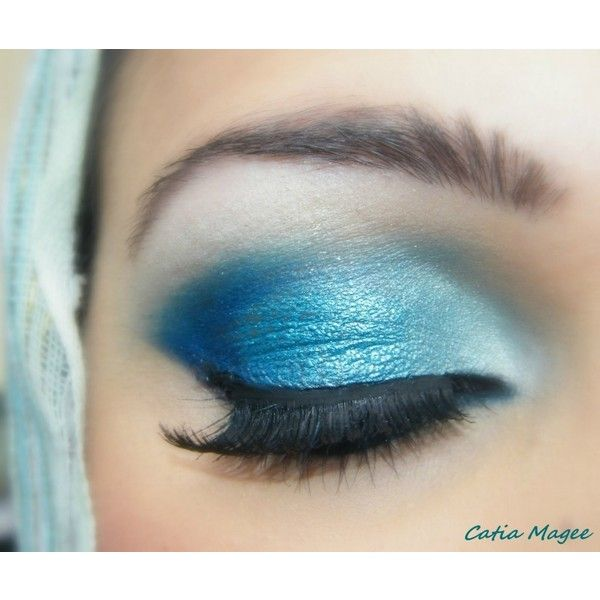 Blue Makeup for Brown Eyes ❤ liked on Polyvore featuring makeup, eyes, beauty, eye makeup and eyeshadow