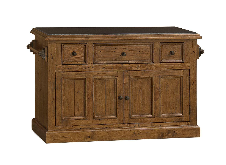 Hillsdale Tuscan Retreat Large Granite Top Kitchen Island - Antique Pine Price: $1,000.00