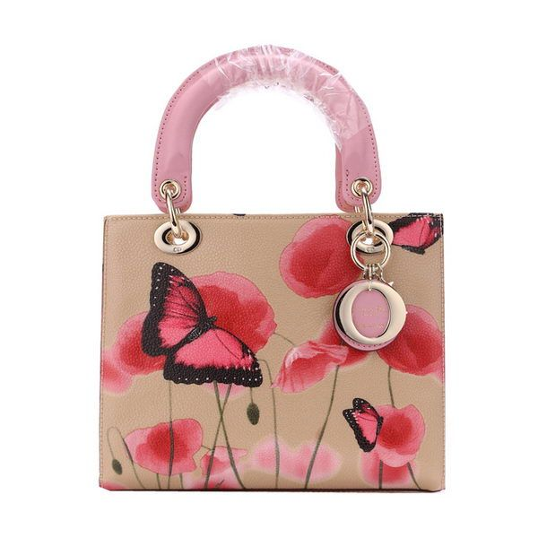 Christian Dior Butterfly Leather Mini Lady Dior Bag D6325 Pink ... f410a42eaca3a