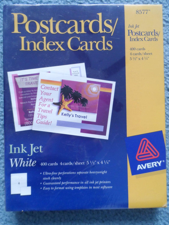 Box of 8577 avery ink jet 5 12 x 4 14 postcardsindex