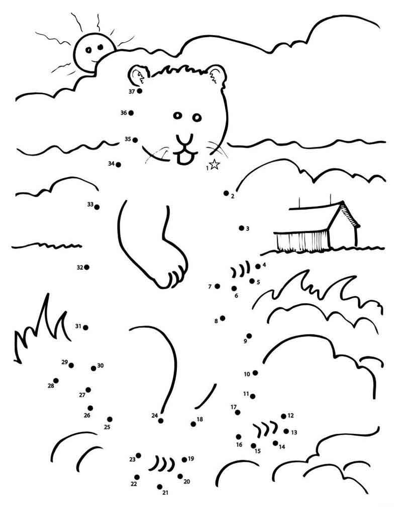 Groundhog Day Connect The Dots Worksheet Groundhog Day Dot Worksheets Printable Coloring Pages