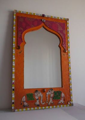 cr ation sur commande miroir mosaique elephants indiens style oriental forme fenetre porte par. Black Bedroom Furniture Sets. Home Design Ideas