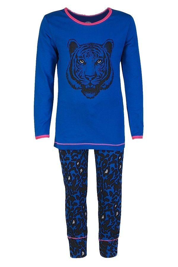 6562650ef48 Claesen's pyjama voor meisjes Cobalt Tiger, blauw   Kinderpyjama's ...