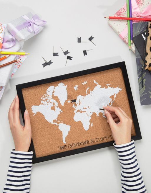 World map corkboard for the adventures ahead gifts for her world map corkboard for the adventures ahead gumiabroncs Gallery