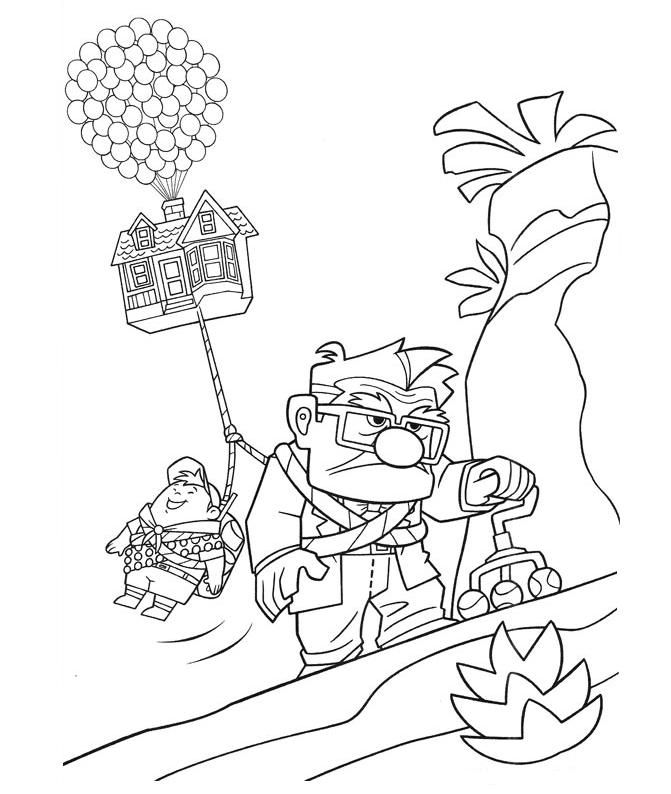 pixar up coloring pages 06 Coloring Pages and Craft Templates