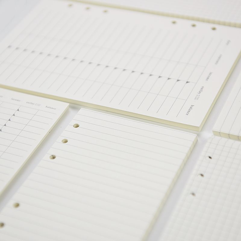 Hot A5 A6 Inner Pages Square Month Plan Dotted Line To Do List - blank line paper