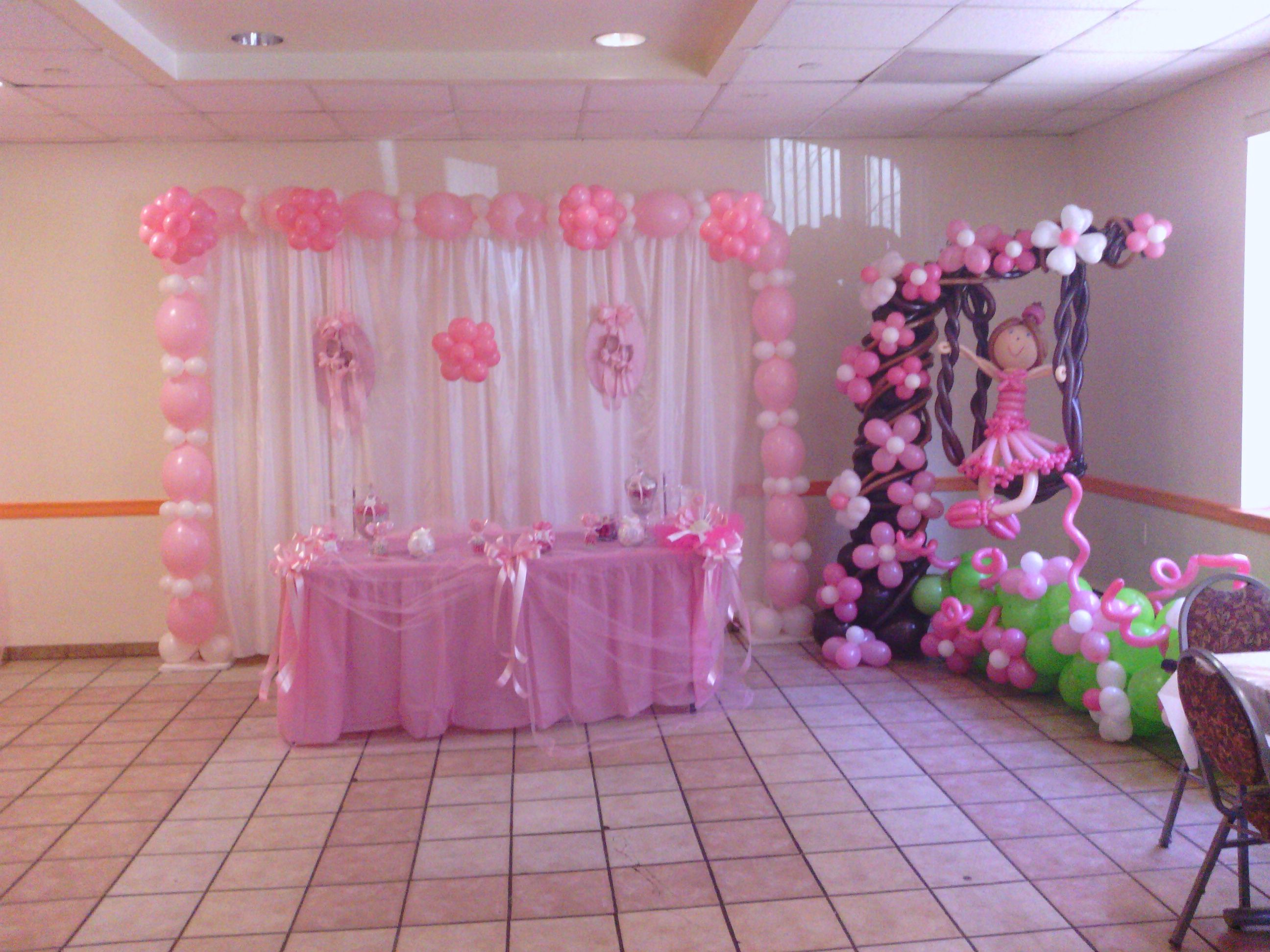 Ballerina decor balloon backdrop pinterest balloon for Balloon backdrop decoration