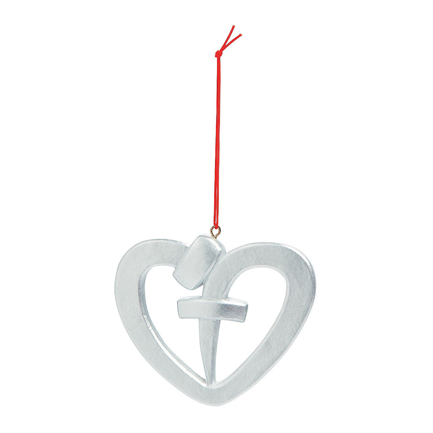 Nail Heart Christmas Ornaments - OrientalTrading.com