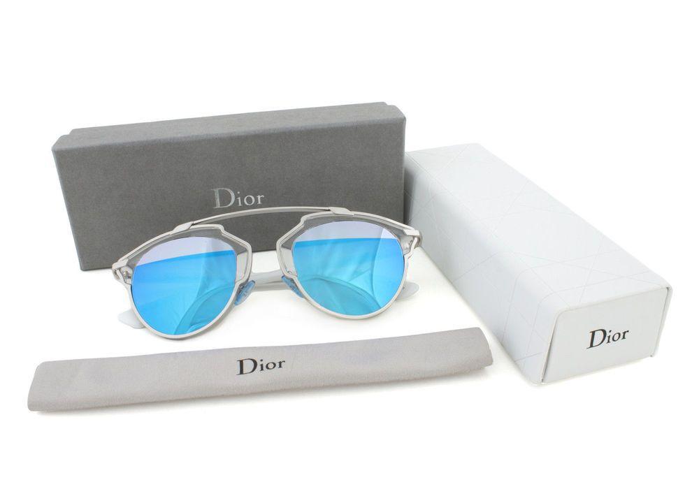 NEW Authentic Dior So Real Sunglasses I187R Palladium blue and ...