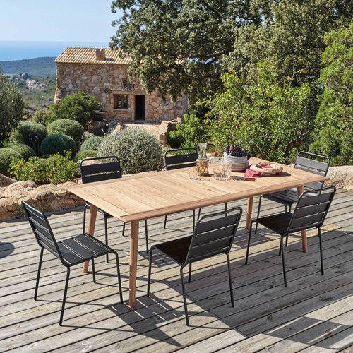 Table de jardin 8 personnes en acacia massif   Outdoor   Chaise ...