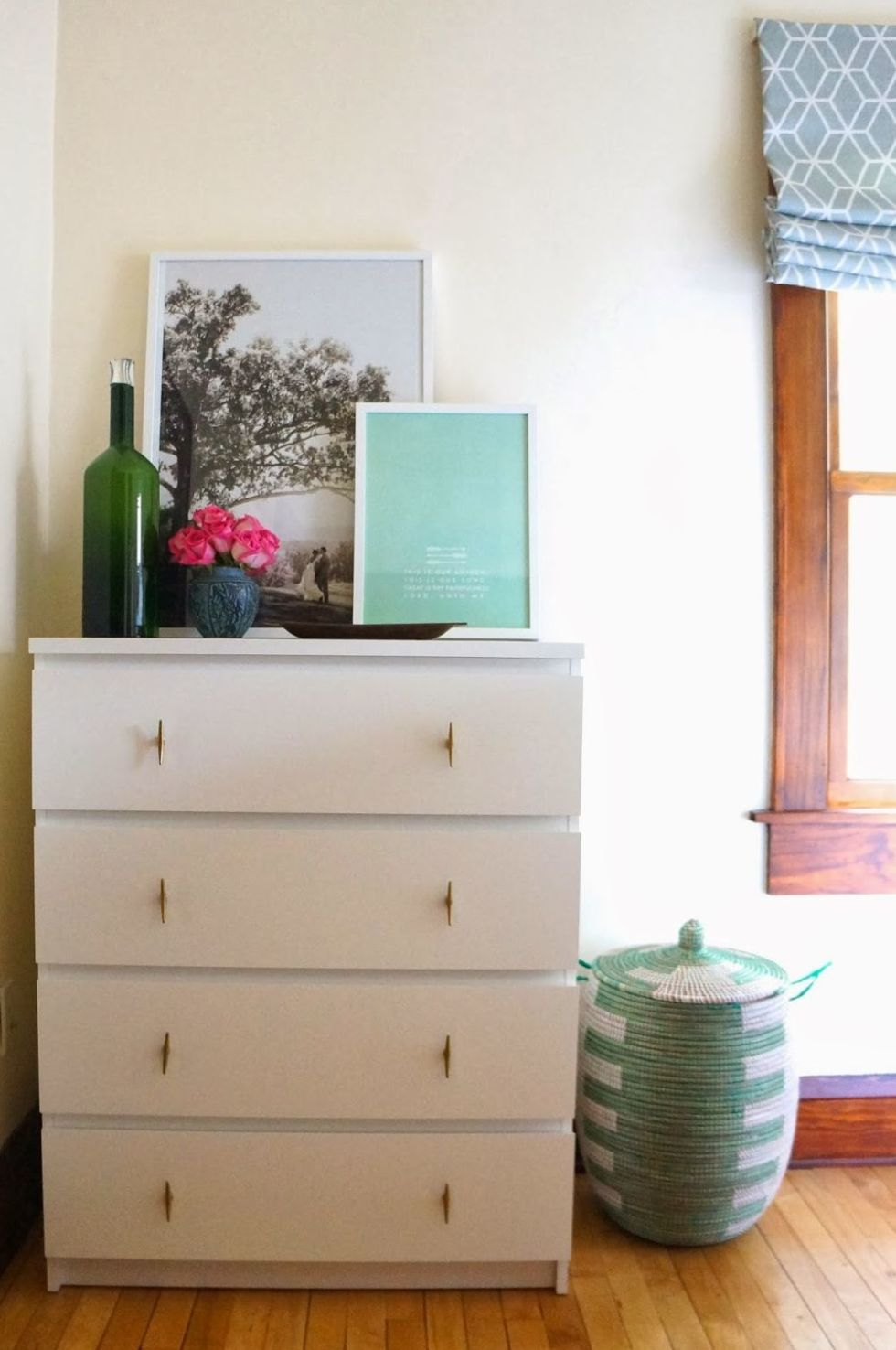 Painted Ikea Malm Drawers