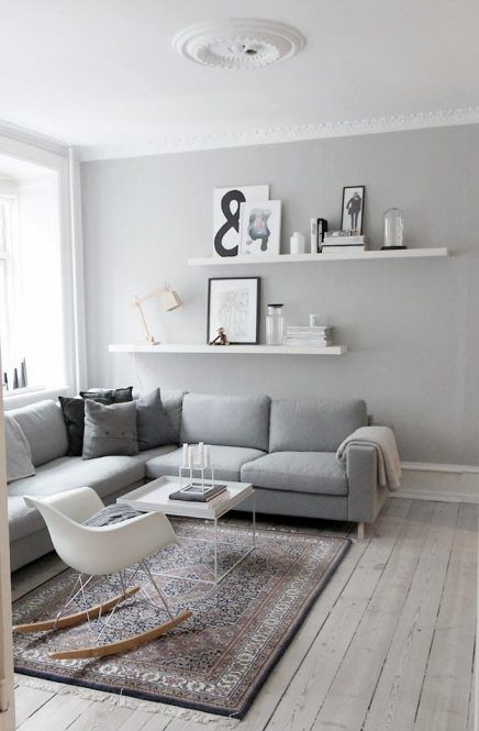 Grijze muur | Wohnzimmer