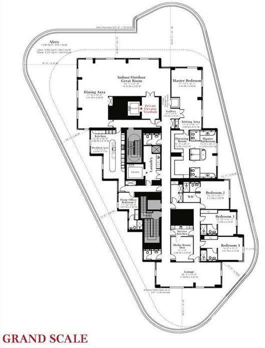 Floorplans And Pricing For Miami Beach S Faena House With A 50m Penthouse On Top Faena House Floor Plans Apartment Architecture