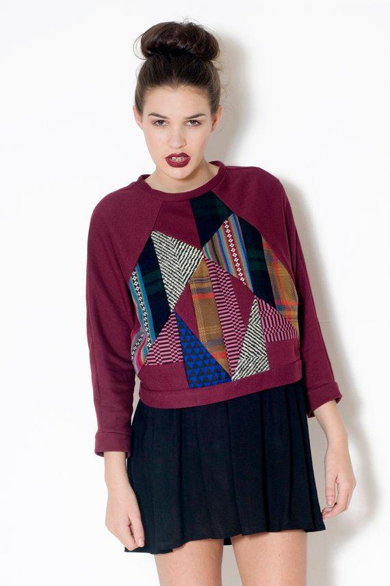 Patchwork Sweater by LoelaLoela on Etsy, £40.00