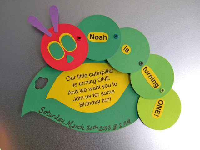 DIY magnetic save the date VHC invites Very Hungry Caterpillar – Very Hungry Caterpillar Party Invitations