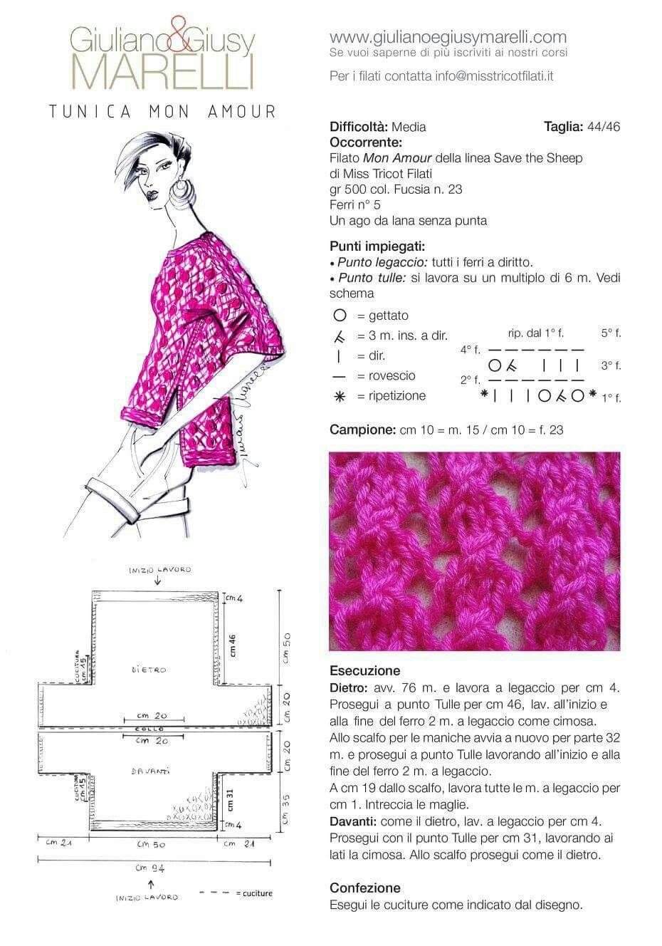 Pin de Stefania Menso en Maglieria   Pinterest   Dos agujas ...