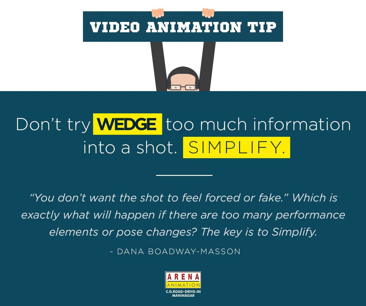 Video Animation Tip Don T Try Wedge Too Much Information Into A Shot Simplify You Don T Want The Shot T Web Design Course Graphic Design Course Web Design