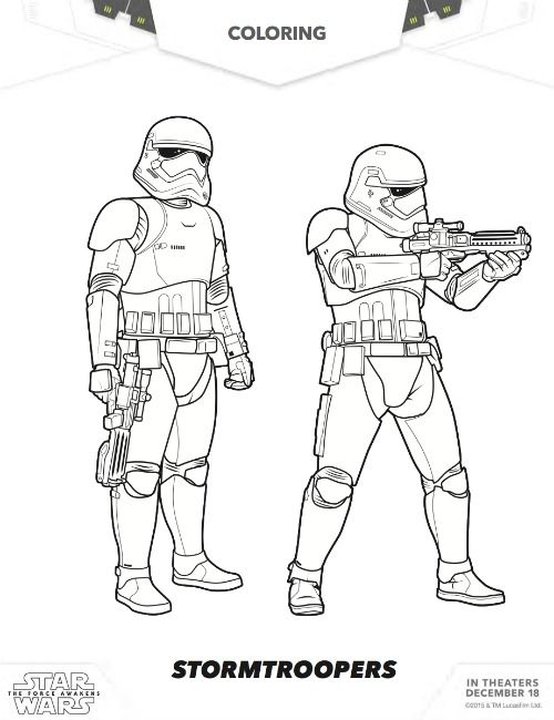 More Free Star Wars The Force Awakens Coloring Pages Coloriage