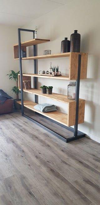 Photo of Industrial Bookshelf Cabinet