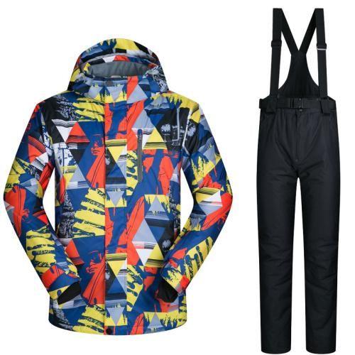 53b9f5155e Men s Ski Suit. Snowboarding JacketsBright ColorsOutdoorSki ClothesSnow  SkiingSuits WomenThermal JacketWinter ...